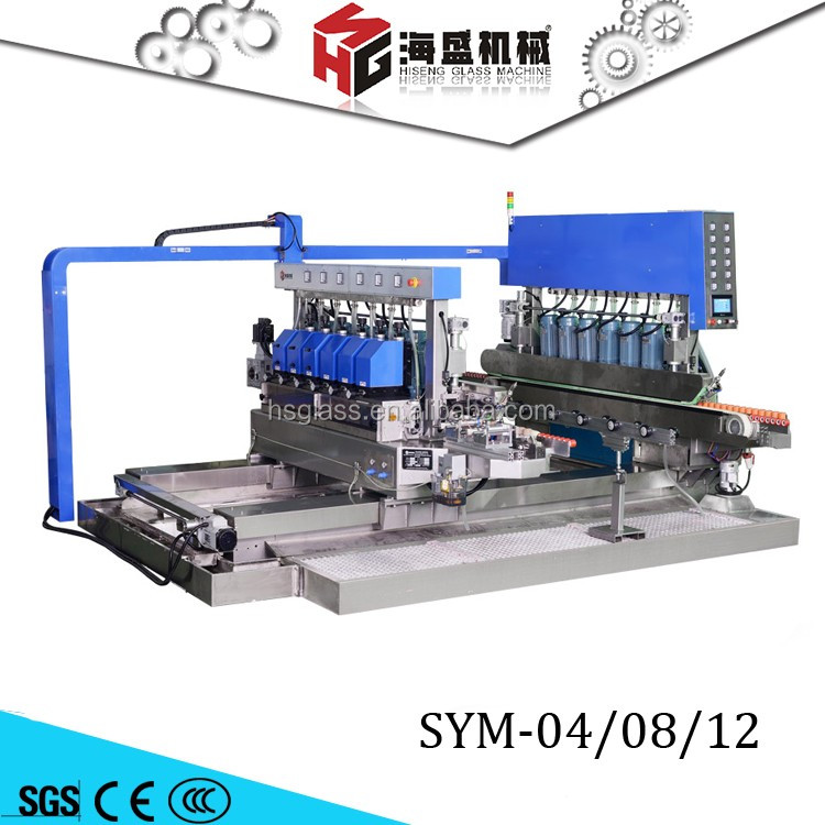 Manufacturer supply automatic double round glass edge polishing machine