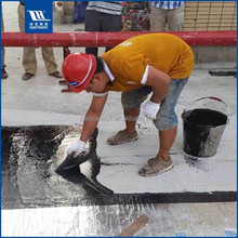 Non-curing Asphalt spray on waterproof membrane