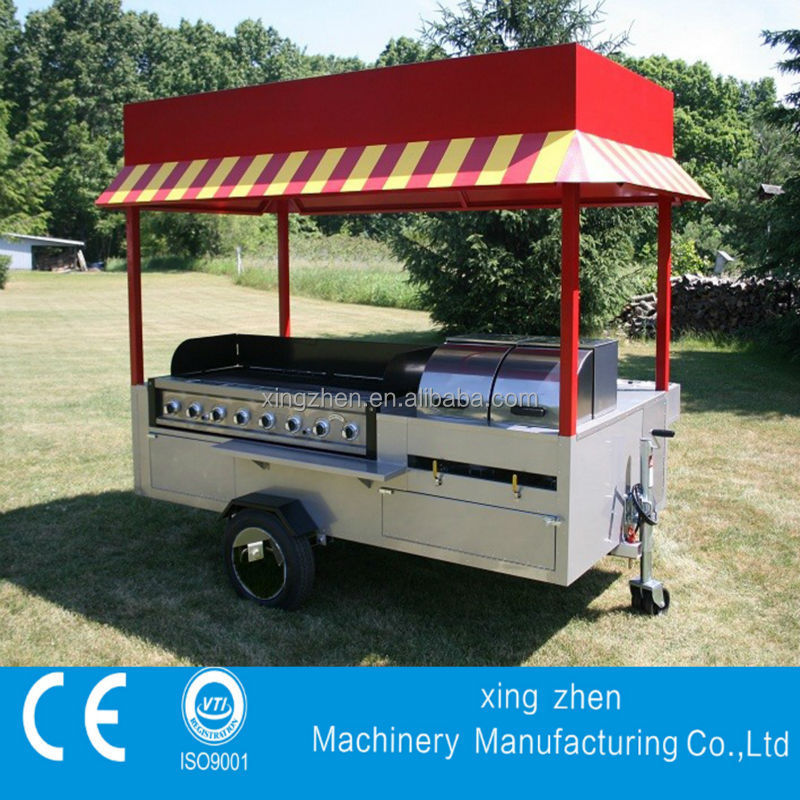 Top quality promotional mobile hot dog cart