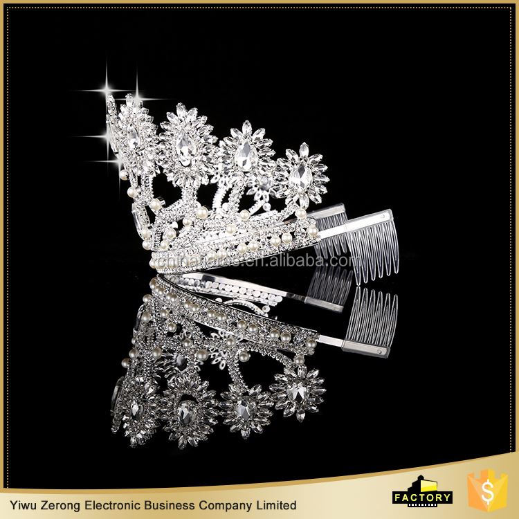 Manufacturer price special design real diamond tiaras fast delivery