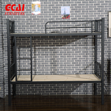 Durable Metal Bunk Bed Price School Dormitory Student Bunk Bed Steel Army Double Bunk Bed with Mattress