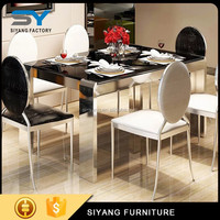 Chinese dining table glass fixing, adjustable low dining table, 8 seater rattan dining table garden furniture CT009