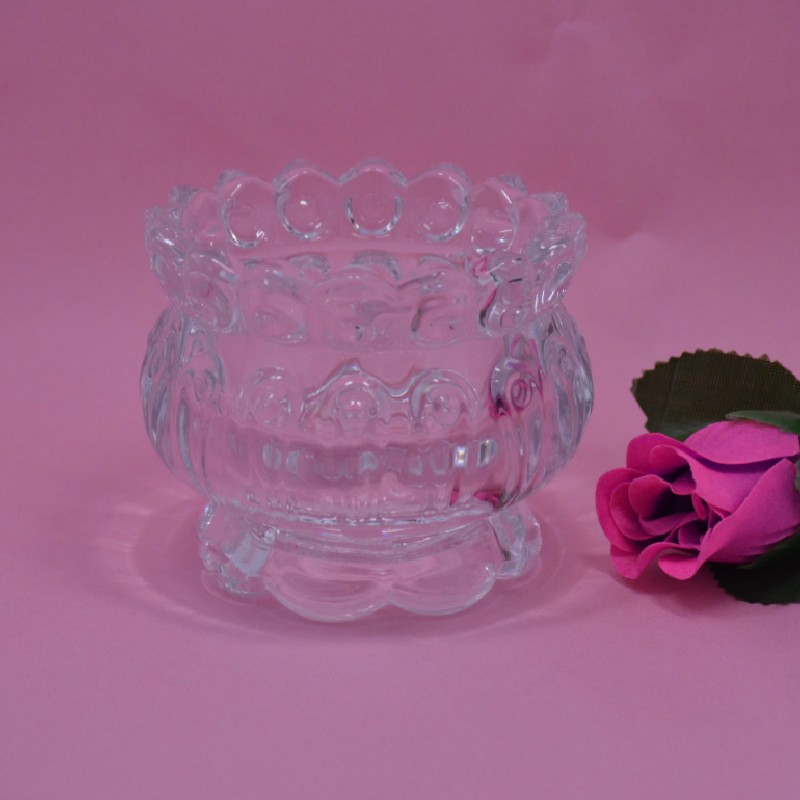 crystal material glass candlestick cheap glass candle holder