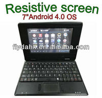 "7"" BOXCHIP A10 Android 4.0 mini laptop,Notebook 702C"