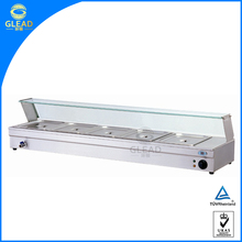 China factory supplier 6 pans bain marie food display warmer