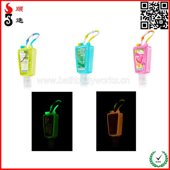 glow in the dark silicone holders for hand sanitizer 30ml