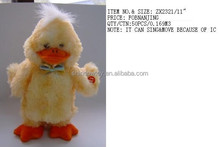 cute and lively stuffed customized plush yellow duck that can sing and move
