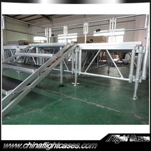 Factory directly 1.22x2.44m Transparent aluminum wedding stage