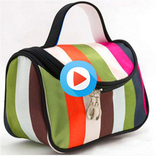Women Portable Cosmetic Bag Fashion Beauty Zipper Travel Make Up Bag Makeup Case Pouch Toiletry Organizer Holder
