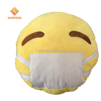 2016 Newest emoji pillow plush face pillows made in China
