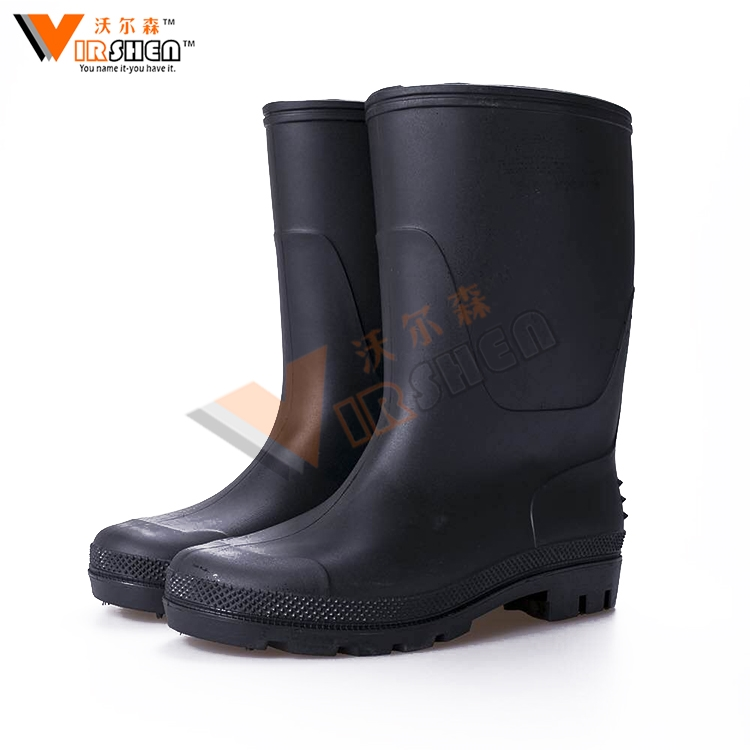 Anti-piercing non-slip and waterproof long rain boots wholesale rubber working boots industry good quality sales