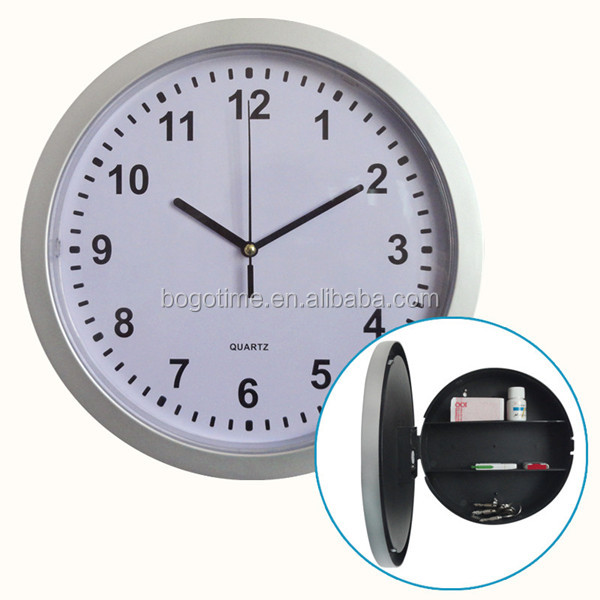Wall Clock with Hidden Space Safe Clock for Valuables