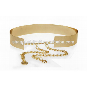 fashion ladies wide gold metal belt