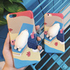 3D cute seal animal tpu mobile phone case for iphone