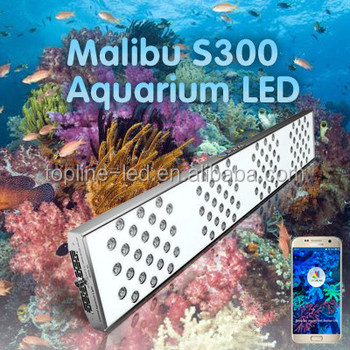 2016 New Malibu Series CE approved programmable and customizable led aquarium light phone control for saltwater and freshwater