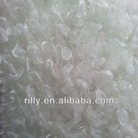 100% polyester curl plush faux fur fabric