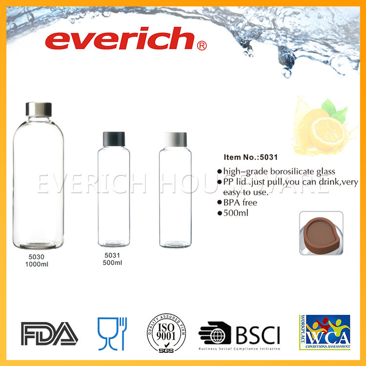 Special hot selling unbreakable glass water bottle