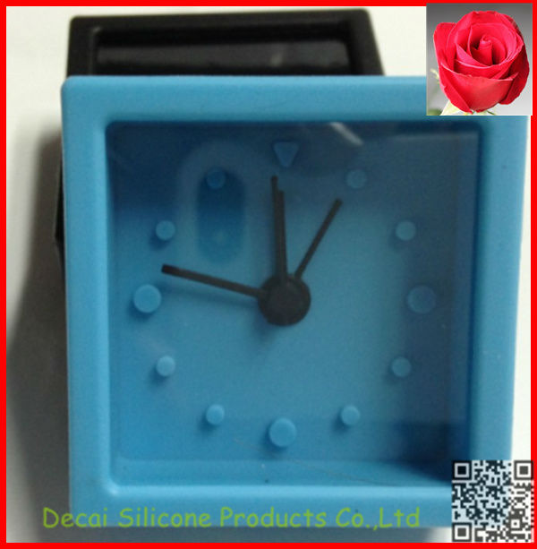 2013 New funny Cute Mini Silicone square Alarm Clocks For Girls And Kids
