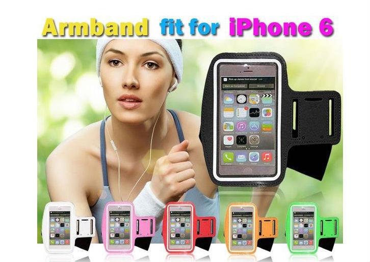 Hot Selling Adjustable Waterproof Running Cycling Imported Neoprene Sport Armband Jogging Case for 5.5 inch Iphone4/4s /5/5s