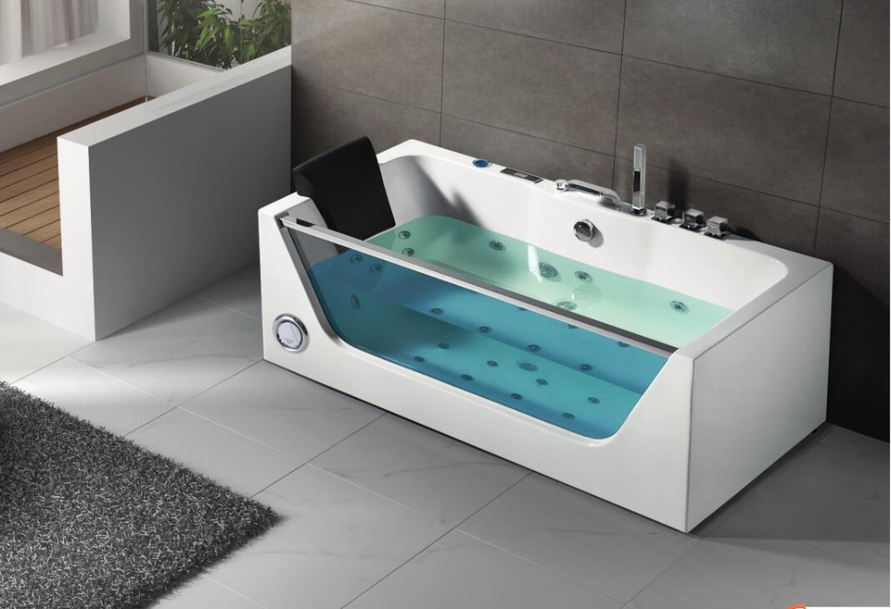Glass Bathtub freestanding whirlpool massage tempered glass bathtub - buy