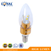 IP20 High lumen glass cover SMD E14 led candle light 3.5w