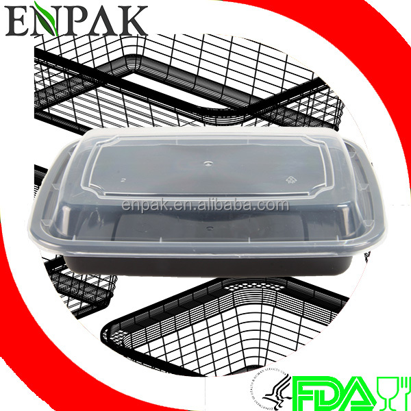 high quality 16oz disposable plastic food container to go boxes restaurant