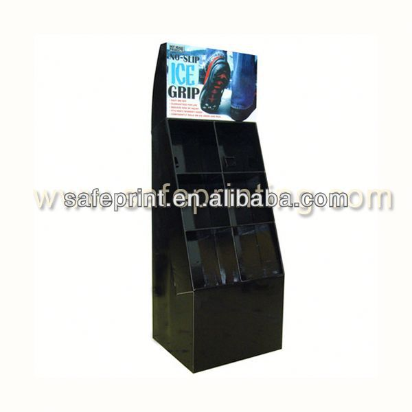 4C Offset Printing Cardboard Floor picture display racks and stands