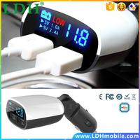 3.4A Fast Charge Voltage Monitor Dual USB Smart Car Phone Charger Cigarette Lighter Adapter with Digital Display for iPhone/LG