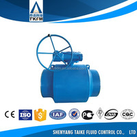 TKFM factory directly sale water gas oil media gear operated carbon steel full welded ball valve dn600