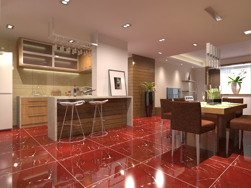 Hs650gn Bright Colored Red Porcelain Ceramic Floor Tiles Buy