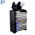 Multi-functional PS4 console games disk display stand storage with controller Charging Dock