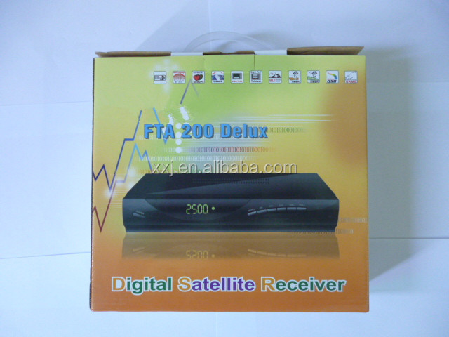 Serving the Middle East and Africa market TV receivers, FTA STB 220V,DC12V port DVB-S 200 RS-232 VGA computer upgrade two power