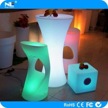 Fashionable high-temperature resistance led tables and chairs for events colorful lights led used home bars for sale