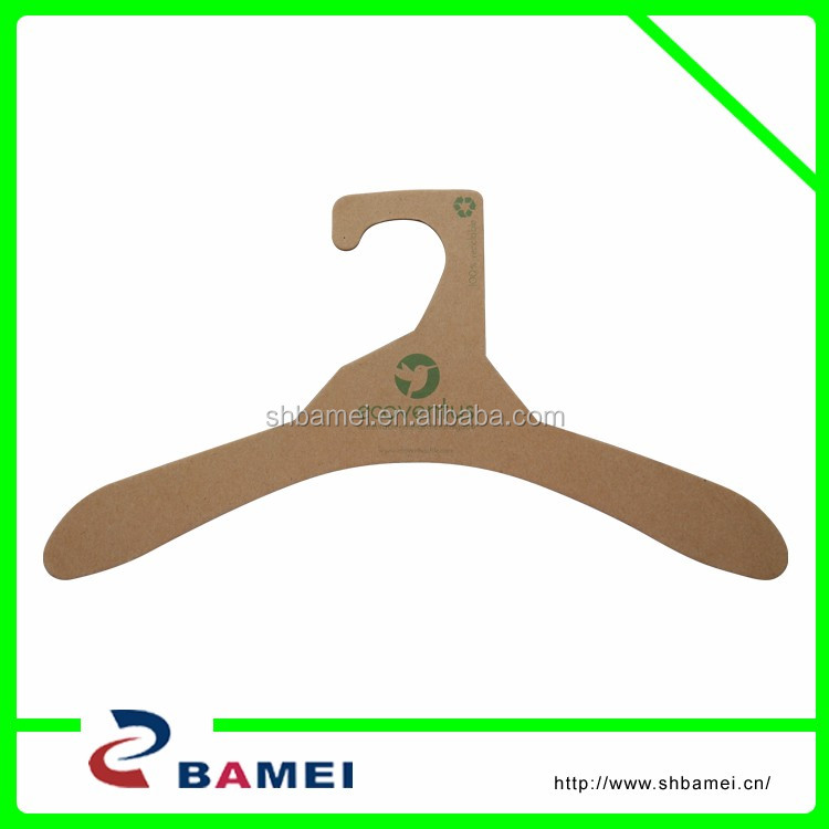 Recycled Cardboard Paper hanger for clother,Fashion 100% Recycled paper clothes hanger