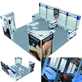 Detian offer island 20x20 reused trade show expo booth can for 10x10 and 10x20ft exhibition booth design