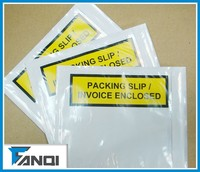 top loading yellow packing list envelope for shipping