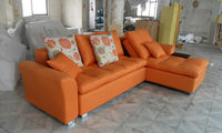 2013 New Design Modern Cloth Art Corner Recliner Sofa with Doll cotton Sofa Fabric C108-3