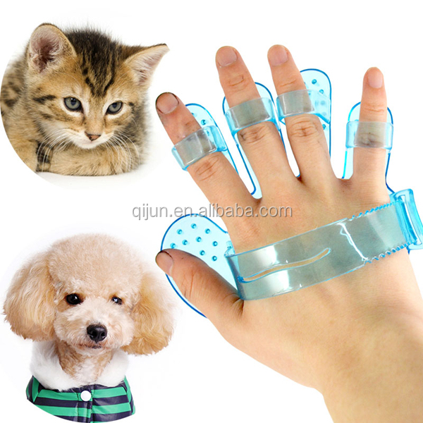 Hot Sell Palm Style Dog Pet Bath Washing Massage Brush