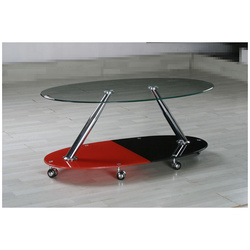 Black and Red Coffee Table,Movable Coffee Table MCT-2169