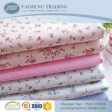 Factory direct printed woven 100% cotton muslin fabric for bed sheets