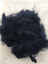 very cheap price 1.5Den/3Den/6Den/15Den x 38mm/51mm/64mm black polyester staple fiber
