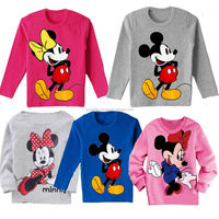 2014 Autumn new design cartoon t shirt baby clothing long sleeve