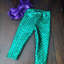 Fancy Light Color Mermaid Costume Pants For Baby Birthday With Headband
