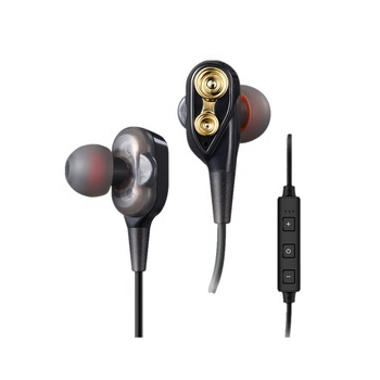 Double Moving Coil  BT earphone mega bass mini stereo HIFI wireless earphones