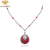 factory price jewelry silver pendant multi color cz necklace for women
