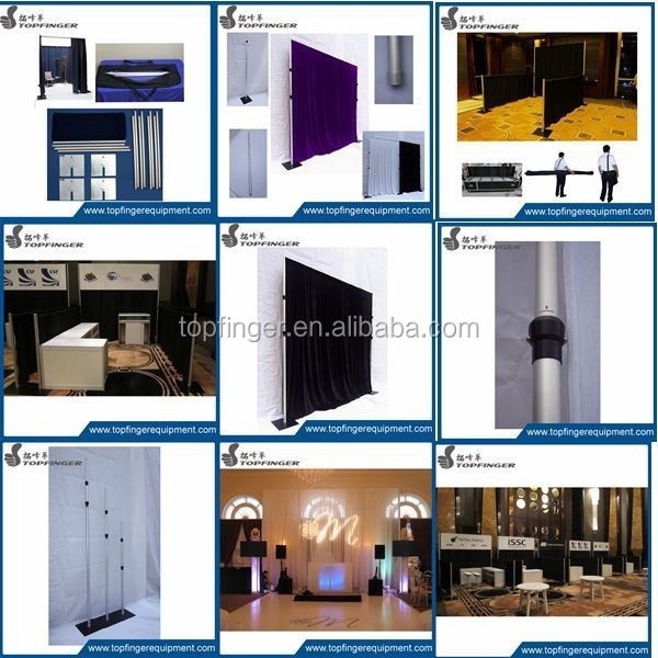 event wedding aluminum backdrop stand pipe and drape kits for trade show displays