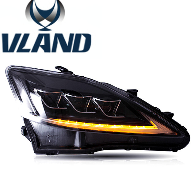 VLAND car head <strong>light</strong> for IS250 LED head <strong>light</strong> 2006-2012 for IS250 headlamp LED IS250 front <strong>light</strong> factory price