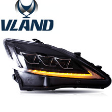 VLAND car head light for IS250 LED head light 2006-2012 for IS250 headlamp LED IS250 front light factory price