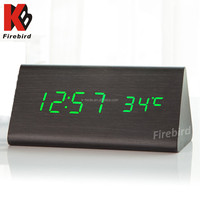 Wholesale green led digital multifunction desktop weather forecast clock