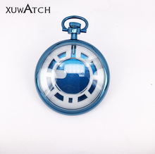 Japan Movt Quartz Stainless Steel Pocket Watch with IP Plating Shinny Color
